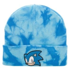 Sonic the Hedgehog Tie Dye Beanie Hat Winter Warm